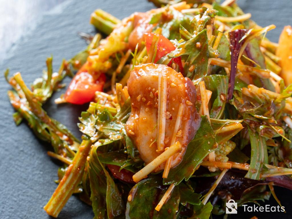 有機野菜とタコのサラダ