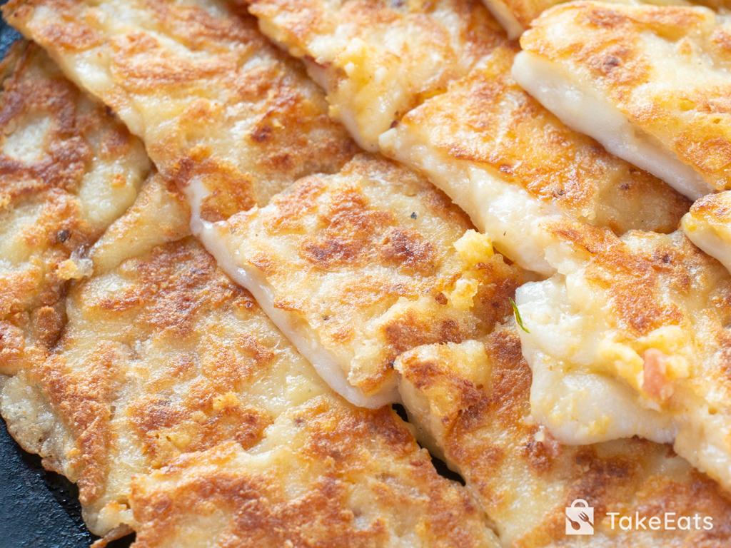 ポテサラとおもちのチーカリチヂミ